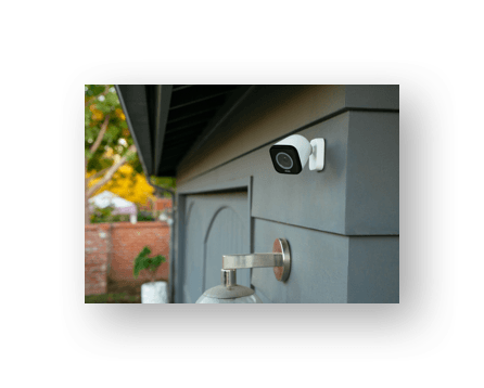 outdoor cameras on outside of garage door