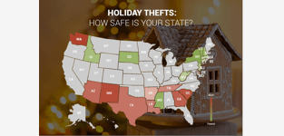 holiday theft map of united states