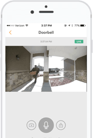 a mobile phone using the vivint mobile application