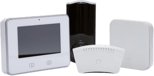 a collection of vivint smart home automation equipment