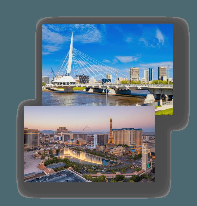 two ocean side resort cities