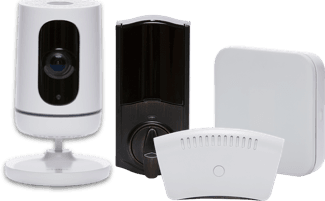 a collection of vivint smart home equipment
