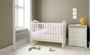 a view of the baby crib