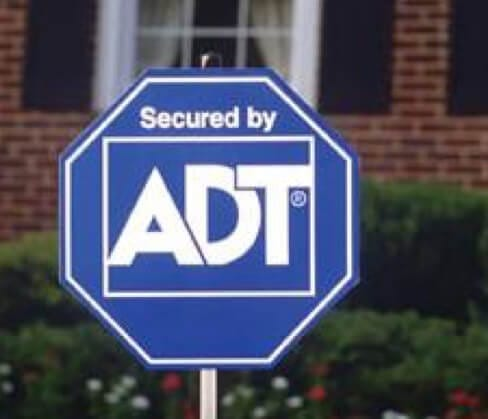 Blue ADT yard sign