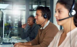 ADT customer service representatives answering calls