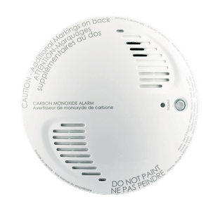 Carbon monoxide detector monitor