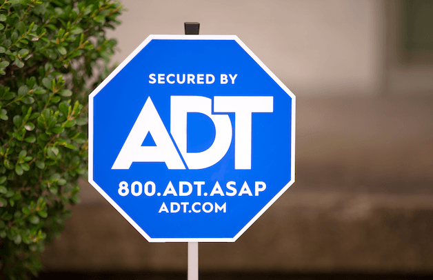 ADT sign in bush
