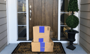 Image of packages on doorstep