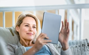 Image of woman on a tablet