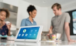 Image of ADT touch panel with customers