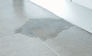 Image of water leaking on floor