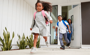 kids coming home from school