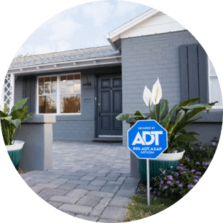 ADT sign outside of a home